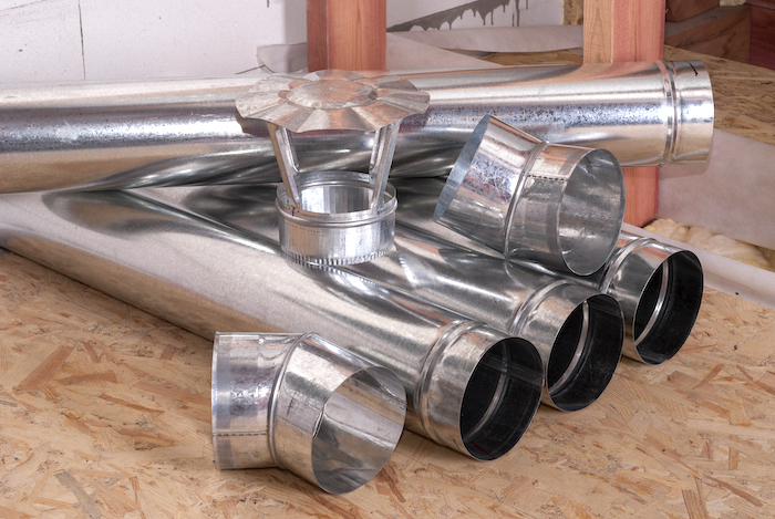 Metal Air Ducts for Air Conditioning and Heating
